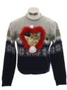 Womens or Girls Catmus Ugly Christmas Sweater