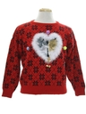 Womens Vintage Catmus Ugly Christmas Sweater