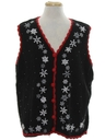Unisex Snowflake Ugly Christmas Sweater Vest
