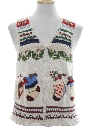 Unisex Country Kitsch Ugly Christmas Sweater Vest
