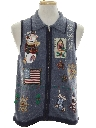 Unisex Country Kitsch Patriotic Ugly Christmas Sweater Vest