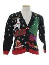 Unisex Girls or Boys Vintage Ugly Christmas Cardigan Sweater