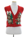 Womens/Girls Vintage Ugly Christmas Sweater Vest