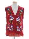 Unisex Hand Embellished Ugly Christmas Sweater Vest