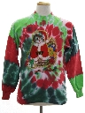 Unisex Vintage Hand Tie Dyed Cat-Tastic Ugly Christmas Sweatshirt