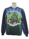 Unisex Hand Tie Dyed Vintage Ugly Christmas Sweatshirt
