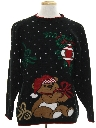 Unisex Bear-riffic Vintage Ugly Christmas Sweater