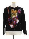 Unisex Hand Embellished Cat-Tastic Ugly Christmas Sweater