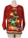 Unisex Vintage Multicolor Lightup Ugly Christmas Sweater