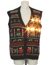 Unisex Vintage Lightup Ugly Christmas Sweater Vest