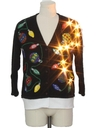 Unisex Hand Embellished Lightup Ugly Christmas Cardigan Sweater
