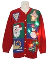 Unisex Multicolor Lightup Ugly Christmas Sweater
