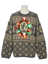 MensMulticolor Lightup Krampus Ugly Christmas Sweater