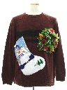 Mens Hand Embellished Ugly Christmas Sweater