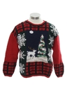 Womens Country Kitsch Ugly Christmas Sweater