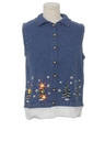 Unisex Hand Embellished Multicolor Lightup Ugly Christmas Sweater Vest