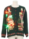 Unisex Multicolor Lightup Bear-riffic Ugly Christmas Sweater