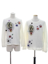 Unisex Set of Two Matching Krampus Ugly Christmas Sweaters