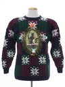 Womens Vintage Krampus Ugly Christmas Sweater