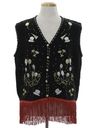 Unisex Hand Embellished Ugly After-Christmas New Years Sweater Vest