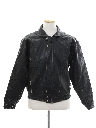Mens Totally 80s Bomber Style Leather Motorcycle Jacket