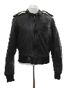 Unisex/Childs Cafe Racer Members Only Style Leather Jacket