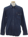 Mens Denim Western Shirt Jacket