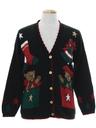 Unisex Vintage Bear-riffic Ugly Christmas Cardigan Sweater