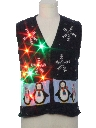 Womens or Girls Multicolor Lightup Ugly Christmas Sweater Vest