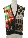 Unisex Country Kitsch Multicolor Lightup Ugly Christmas Sweater Vest