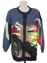 Unisex Country Kitsch Multicolor Lightup Ugly Christmas Sweater