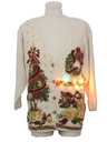 Unisex Vintage Multicolor Lightup Ugly Christmas Cardigan Sweater