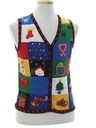 Womens Ugly Christmas Sweater Vest