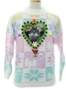 Unisex Vintage Ugly Christmas Catmus Sweater