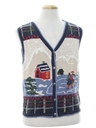Unisex/Childs Country Kitsch Ugly Christmas Sweater Vest