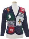 Womens Ugly Christmas Cardigan Sweater