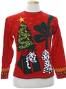 Unisex Ladies or Boys Vintage Dog-Gonnit Ugly Christmas Sweater