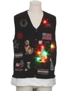Unisex Hand Embellished Multicolor Lightup Dog-gonnit Ugly Christmas Sweater Vest