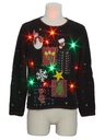 Unisex Multicolor Lightup Country Kitsch Ugly Christmas Sweater