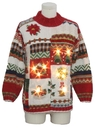 Unisex Vintage Lightup Country Kitsch Ugly Christmas Sweater
