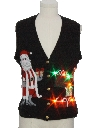 Unisex Vintage Multicolor Lightup Ugly Christmas Sweater Vest