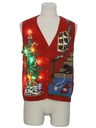Unisex Multicolor Lightup Dog-gonnit Ugly Christmas Sweater Vest
