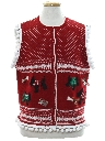 Unisex Hand Embellished Dog-gonnit Ugly Christmas Sweater Vest