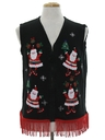 Unisex Hand Embellished Ugly Christmas Sweater Vest