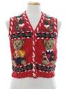 Womens Bear-riffic Ugly Christmas Sweater Vest