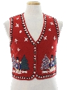 Womens or Girls Ugly Christmas Non-Sweater Vest
