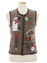 Unisex Ladies, Girls or Boys Country Kitsch Ugly Christmas Sweater Vest
