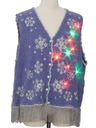 Unisex Hand Embellished Multicolor Lightup Ugly Christmas Sweater Vest