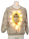 Womens Lightup Catmus Ugly Christmas Sweater