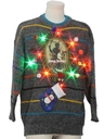 Mens Vintage Multicolor Lightup Krampus Ugly Christmas Sweater